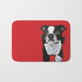 Bobo the Boston terrier Bath Mat