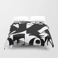 type Duvet Covers featuring TYPE by Maria Sinisterra