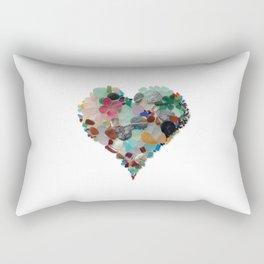 Love - Original Sea Glass Heart Rectangular Pillow