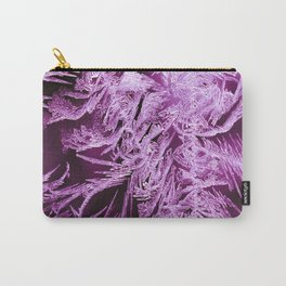 White Ice Crystals On A Purple Background #decor #society6 #homedecor Carry-All Pouch