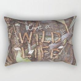 Live a Wild Life Rectangular Pillow