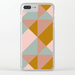 Modern Boho Geometric Pattern Clear iPhone Case
