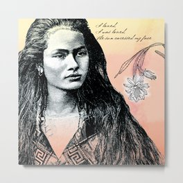 Poetry Girls: Navajo Girl Metal Print