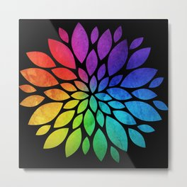 Rainbow Flower Metal Print