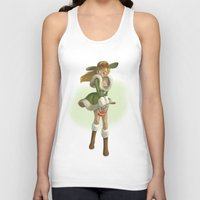 pin up Tank Tops featuring Pin up by paul drouin