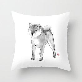 One Handsome Shiba Inu Throw Pillow