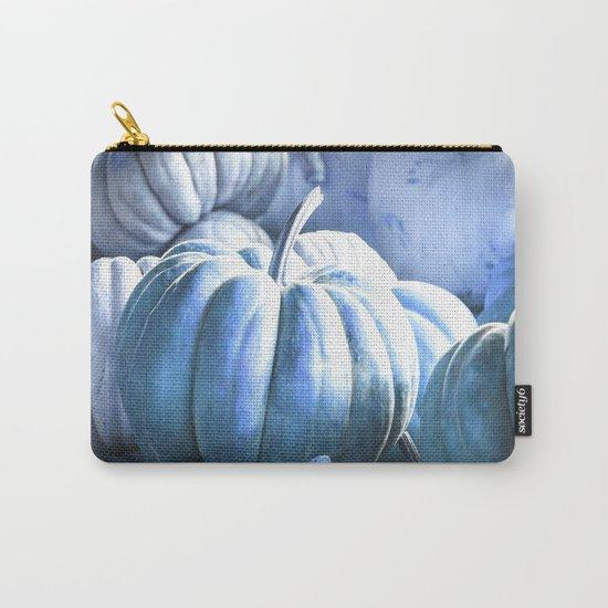 Autumn Pumpkins Blue Carry-All Pouch