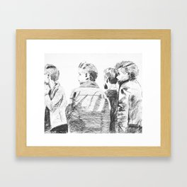 """""""The world wont listen"""" Framed Art Print"""