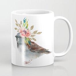Boho Chic wild bird With Flower Crown Coffee Mug