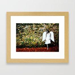 """Angel Among Us, image 3"" B&W Angel Framed Art Print"