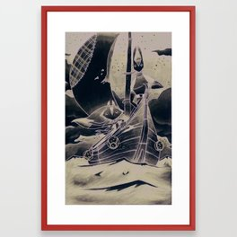 Rabbit & Fox Framed Art Print