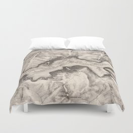 Vintage Map of Yosemite Valley (1870) Duvet Cover