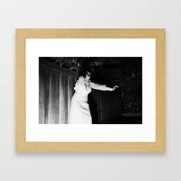 Screaming Kimberly Framed Art Print