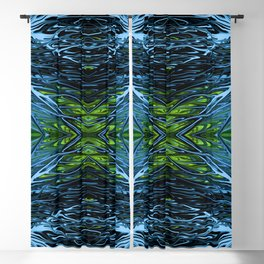 Emerald Ice Lightning IV by Chris Sparks. Blackout Curtain