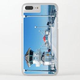A Winter's Day Huntington Beach Pier Clear iPhone Case