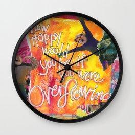 Overflowing Wall Clock