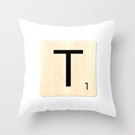Scrabble T Throw Pillow