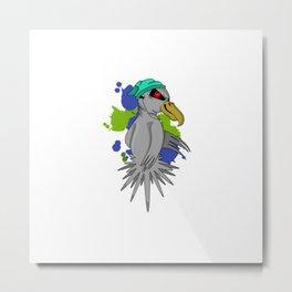 Punk Parrot Metal Print