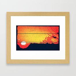 Black Hole Sun Framed Art Print