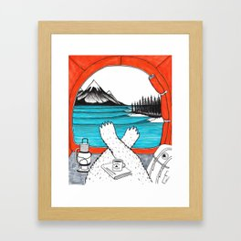 Happy Camper Colour Framed Art Print