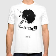 communication SMALL White Mens Fitted Tee