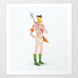 Rocker Aquaman Art Print