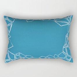 Fractal Glacier Negative Space Rectangular Pillow