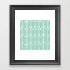 White Arrows on Mint Framed Art Print
