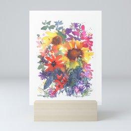 Rainy Day Sunflowers Mini Art Print