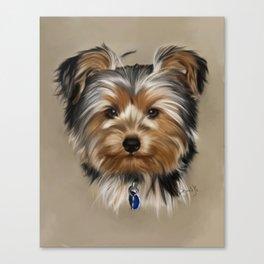 Yorkshire Terrier Painting Portrait Canvas Print