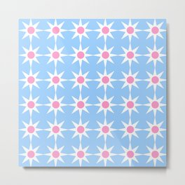 Stars 40- blue and pink Metal Print