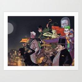 Rogues Gallery (ver 1) Art Print