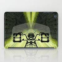 motorbike iPad Cases featuring Futuristic Motorbike by The Warehouse