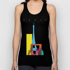 Shapes of Paris. Accurate to scale. Unisex Tank Top
