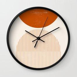 Mid century modern, mid-century wall art, print, geometric wall art, abstract wall art, interior, ma Wall Clock