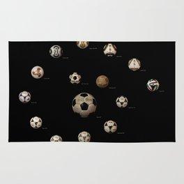 ADIDAS FIFA WORLD CUP FOOTBALL SOCCER  FUTBOL BALLS 1970-2014 Rug
