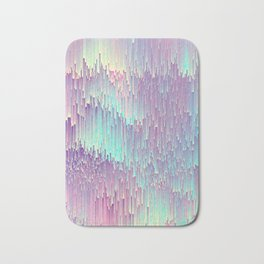 Iridescent Glitches Bath Mat