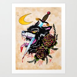 The Wolf and Dagger Art Print