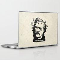 nietzsche Laptop & iPad Skins featuring NICHE-TZSCHE by science fried art