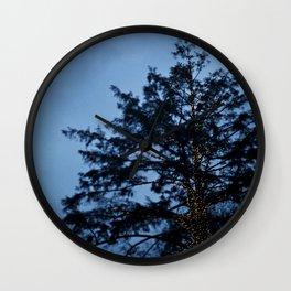 Evergreen at Twilight Wall Clock