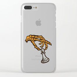 Skeleton chess sticker! Clear iPhone Case