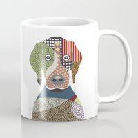 beagle Mugs featuring Beagle by Lanre Studio