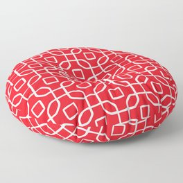 Grille No. 4 -- Red Floor Pillow