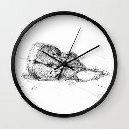 Contrabass resting Wall Clock