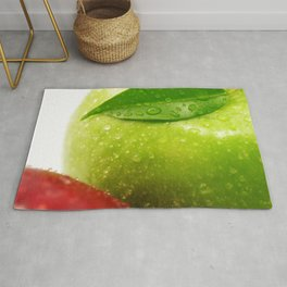 Fresh red and Green Appel in contrasts Rug