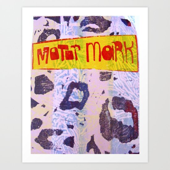 Motor Mark Art Print