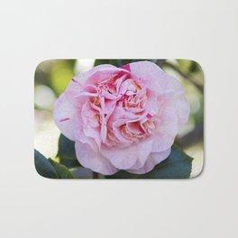 Strawberry Blonde Camellia Bloom Bath Mat