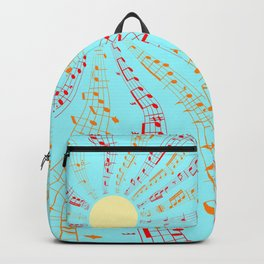 Music Brightens the World Backpack