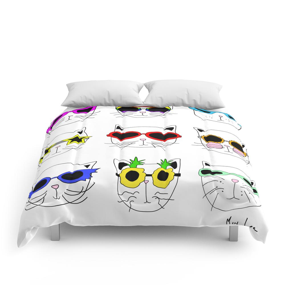 Cats_Sunglasses_Summer_Comforter