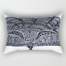 Biomechanics Blue Flower Rectangular Pillow